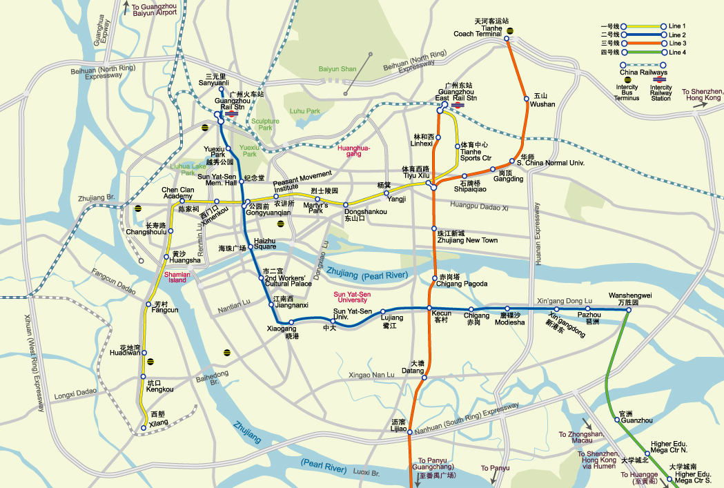 Cangzhou China  city photos : Guangzhou Map, Map of Guangzhou China, Guangzhou City, Tourist Map