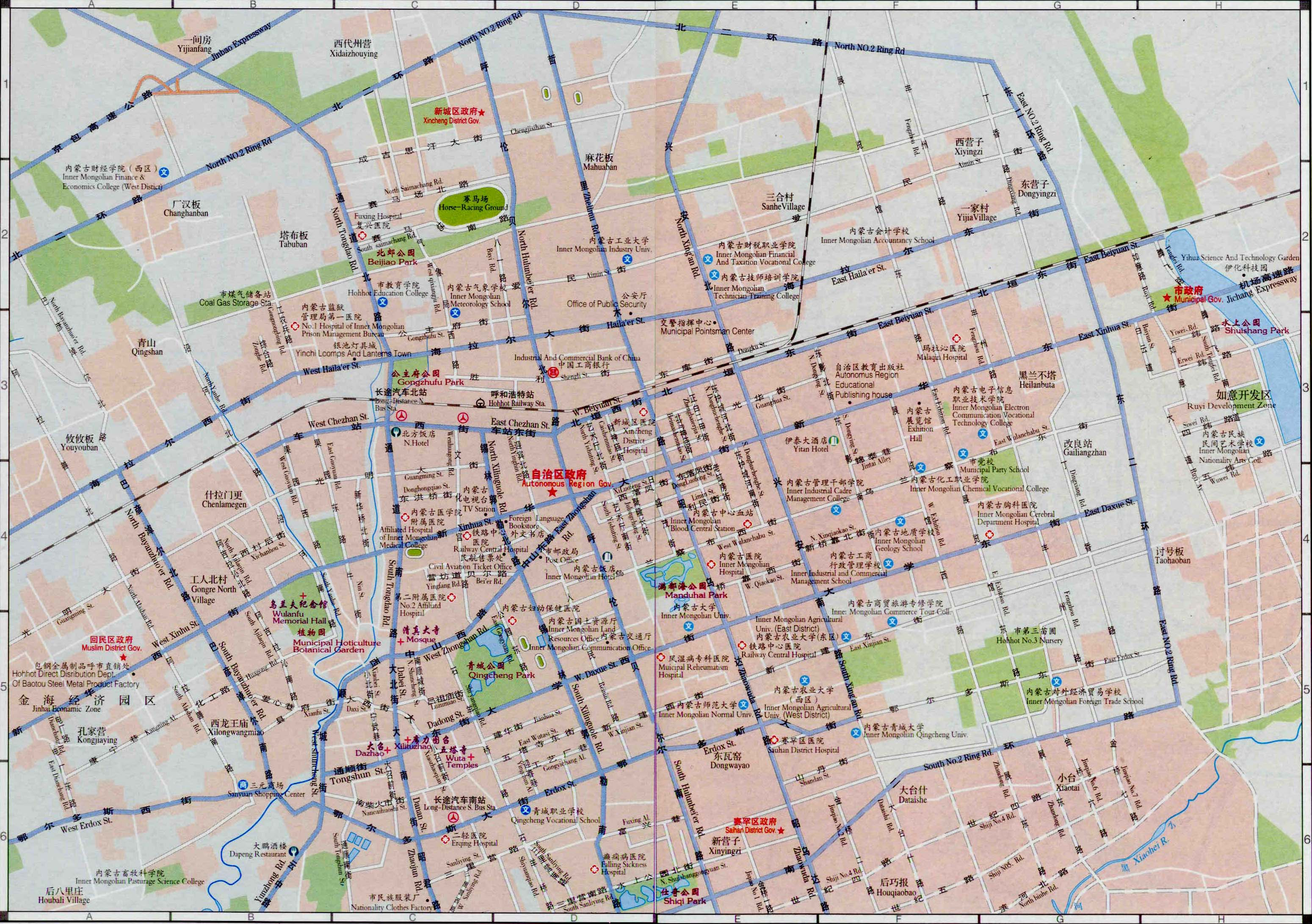 Hohhot China  city pictures gallery : Hohhot Map, Map of Hohhot China, Hohhot City, Tourist Map
