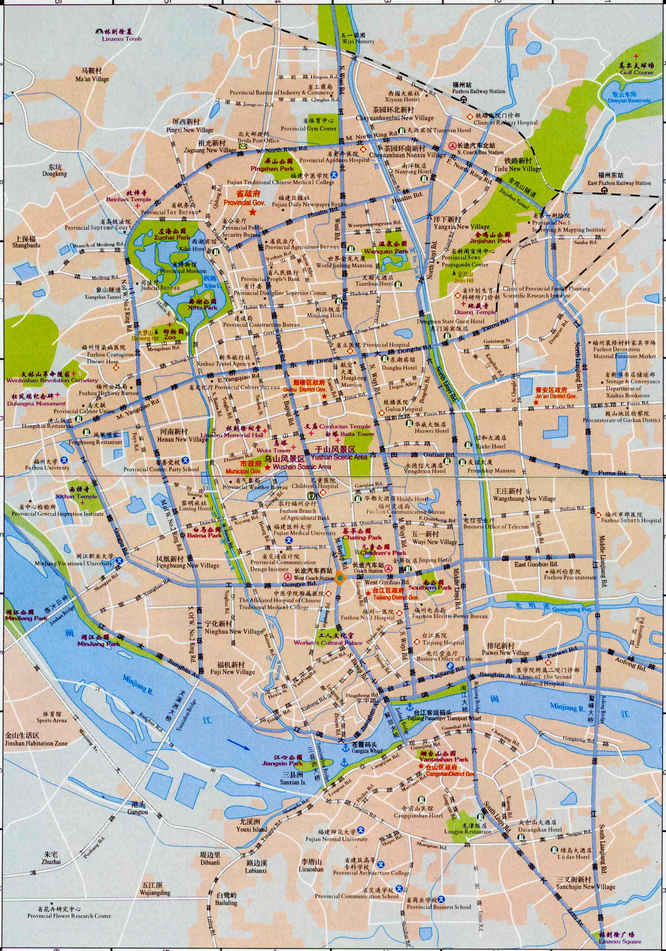 Fuzhou China  City pictures : Fuzhou Map, Map of Fuzhou China, Fuzhou City, Tourist Map