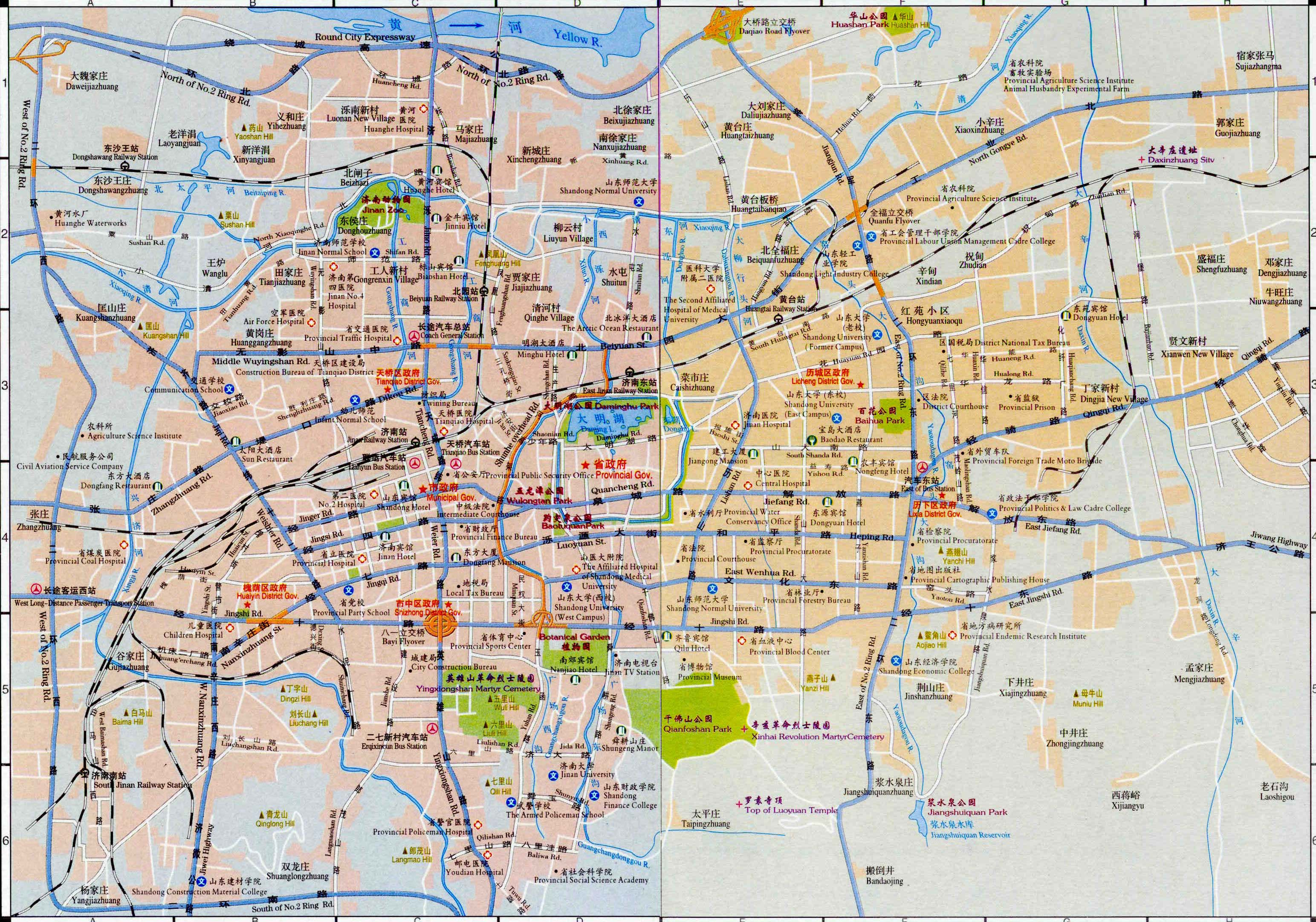 Jinan China  city pictures gallery : Jinan Map, Map of Jinan China, Jinan City, Tourist Map