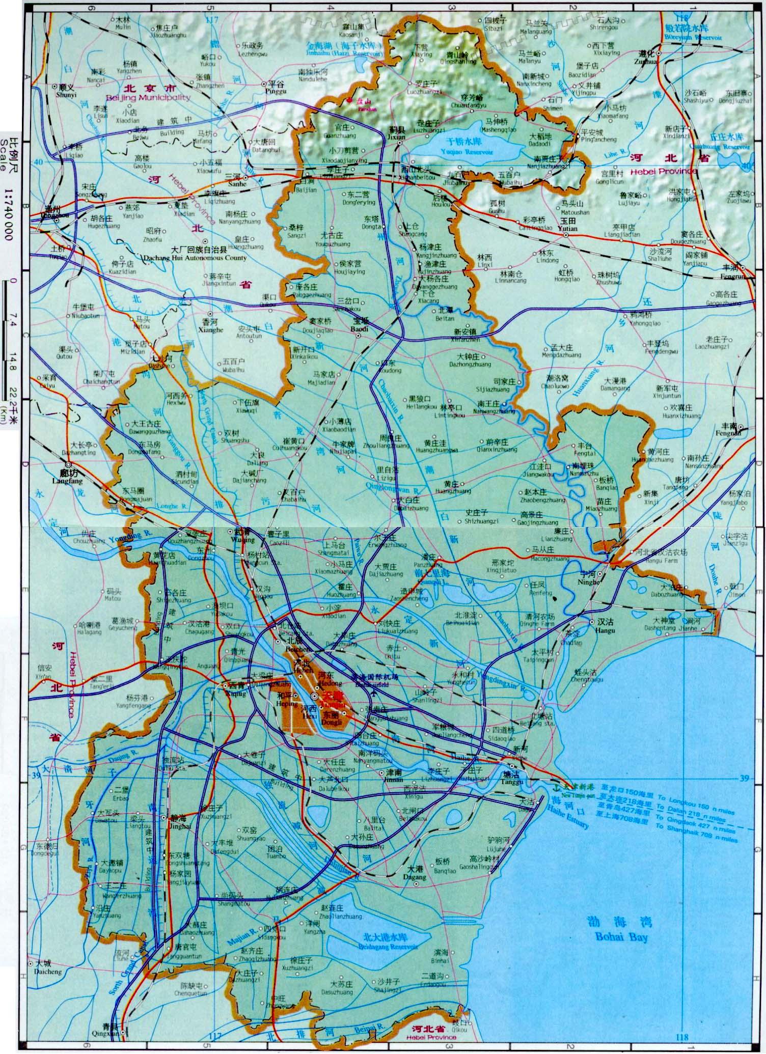Map Of Tianjin China