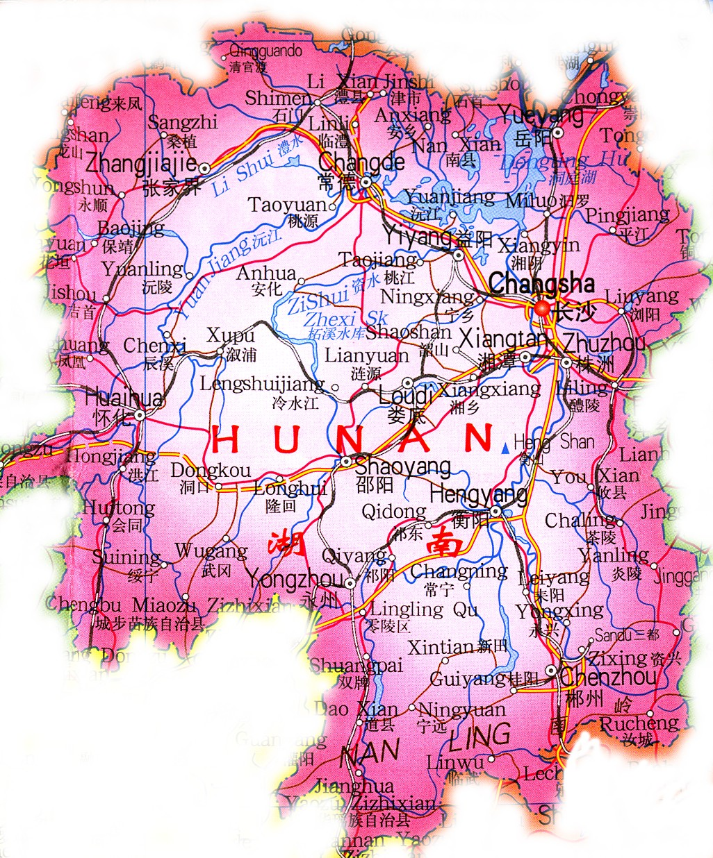 how to get to hunan china